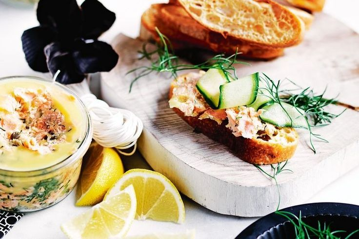 Potted salmon is a delicious topping for fresh crusty bread, toast or as a picnic sandwich filling.