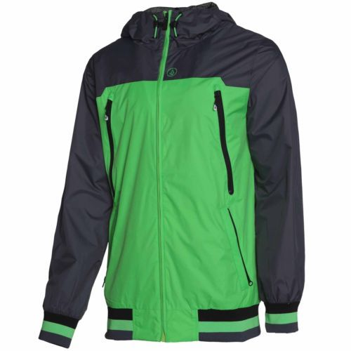 #Volcom mens team breaker jacket - ski/snowboard #winter coat in electric #green,  View more on the LINK: 	http://www.zeppy.io/product/gb/2/162242740325/