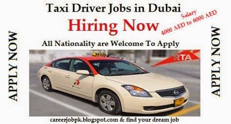 Taxi Driver Required for Dubai 2016 for all Nationality. Road and Transport Authority Company is looking Taxi Driver. Offering 4000 to 6000 AED Commission based job