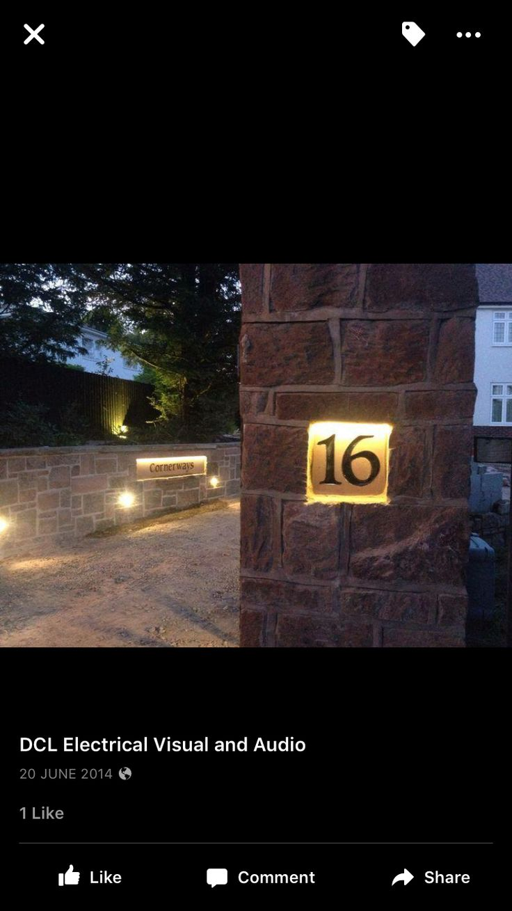 luxello modern led house numbers Modern House