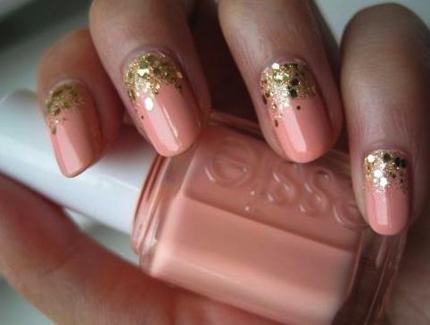 Pink Bridal Nails