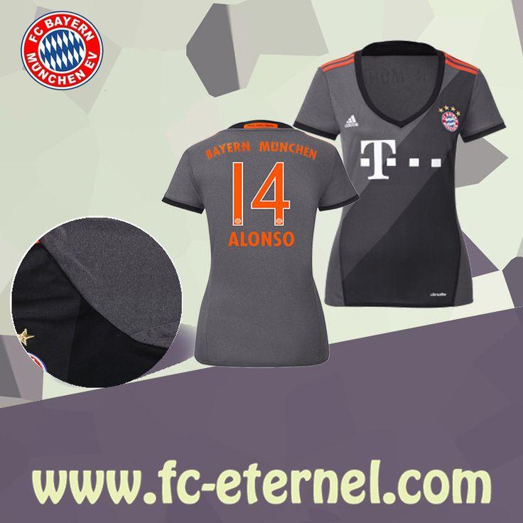 fc-eternel:Maillot Bayern Munich Femme (ALONSO 14) Exterieur 2016/2017 Thai Edition
