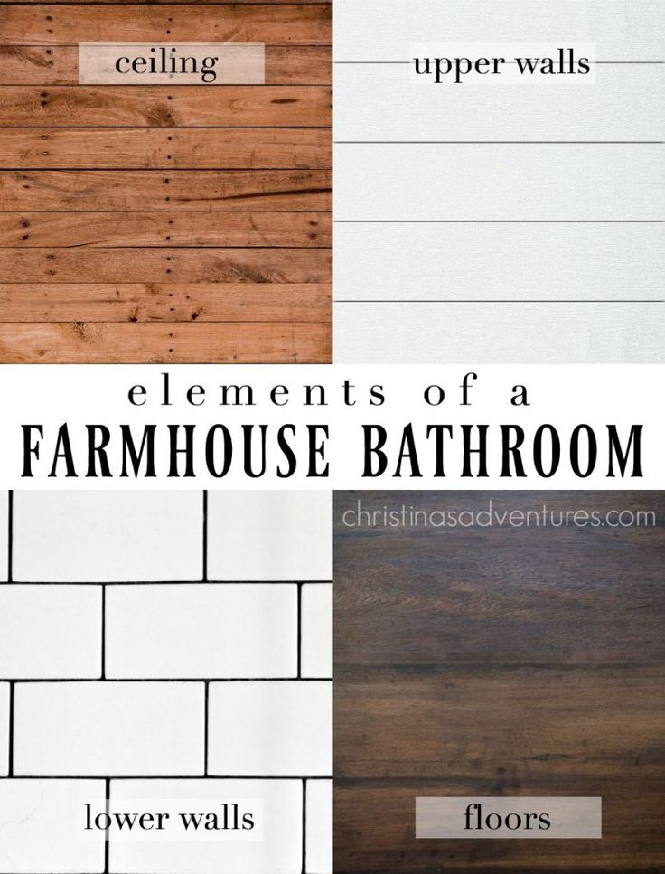 classic farmhouse bathroom design elements wood ceiling shiplap upper walls subway tile lower