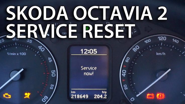 How to reset service reminder indicator in #Skoda #Octavia MK2 #maintenance #cars #reset