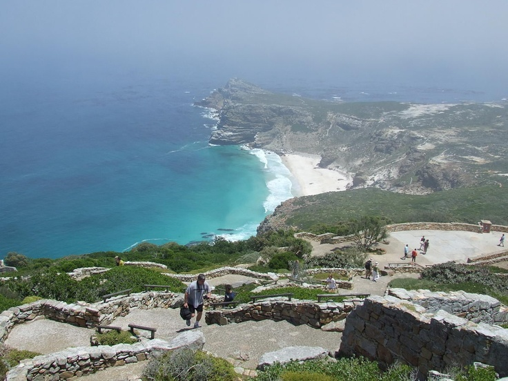 Cape Point is the end of the Cape Peninsula, which is part of Table Mountain National Park of South Africa. A full day driving tour of the peninsula allows time to see seal island of Hout Bay, the penguins at Boulders Beach, the Cape of Good Hope, and Kirstenbosch Gardens.