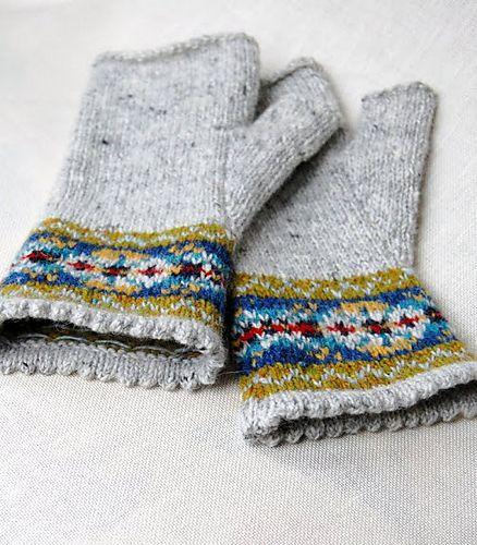 Ravelry: hgd11's Fair Isle Fingerless Gloves