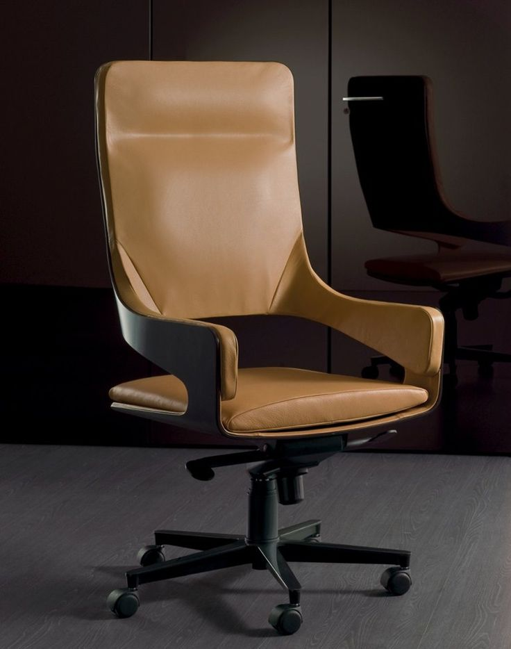 Height Adjustable Swivel Executive Chair Silhouette