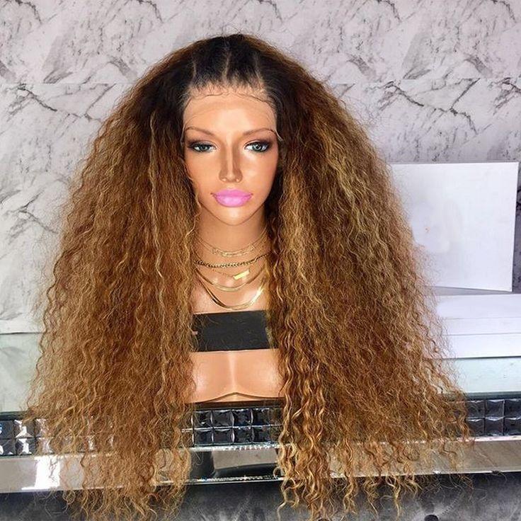 MELINDA perruque Lace wig sans colle bouclée