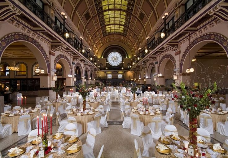 Crowne Plaza Downtown Indianapolis, Indiana.  Grand Hall Ballroom is an elegant venue for your wedding reception.