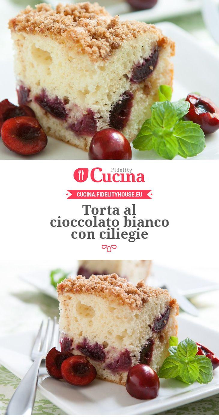 Torta al cioccolato bianco con ciliegie