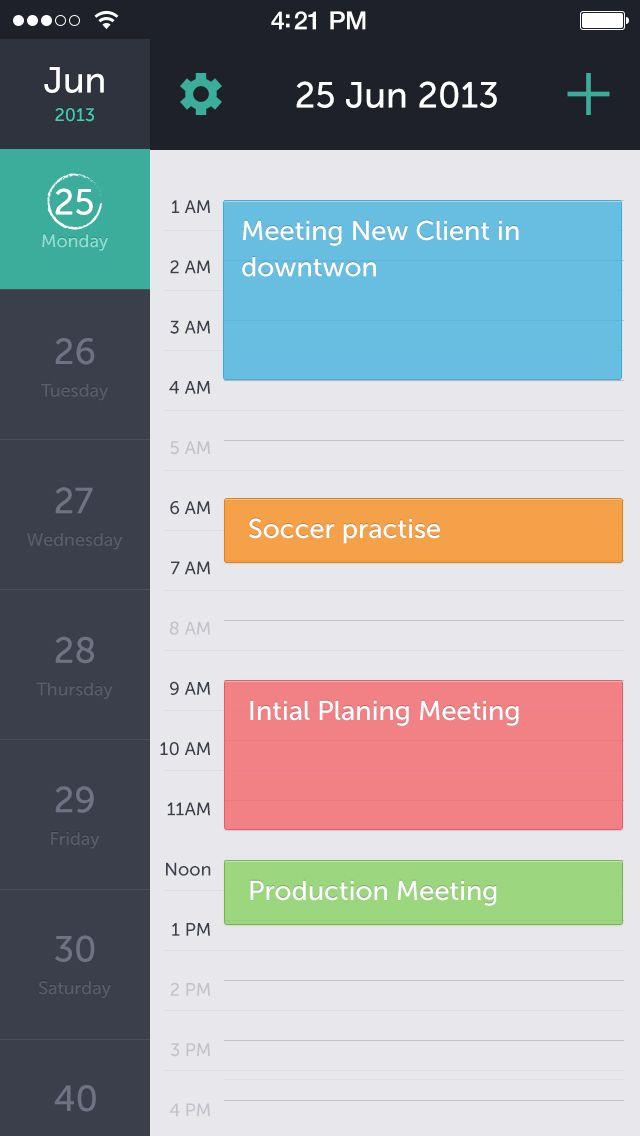 Calendar - colors