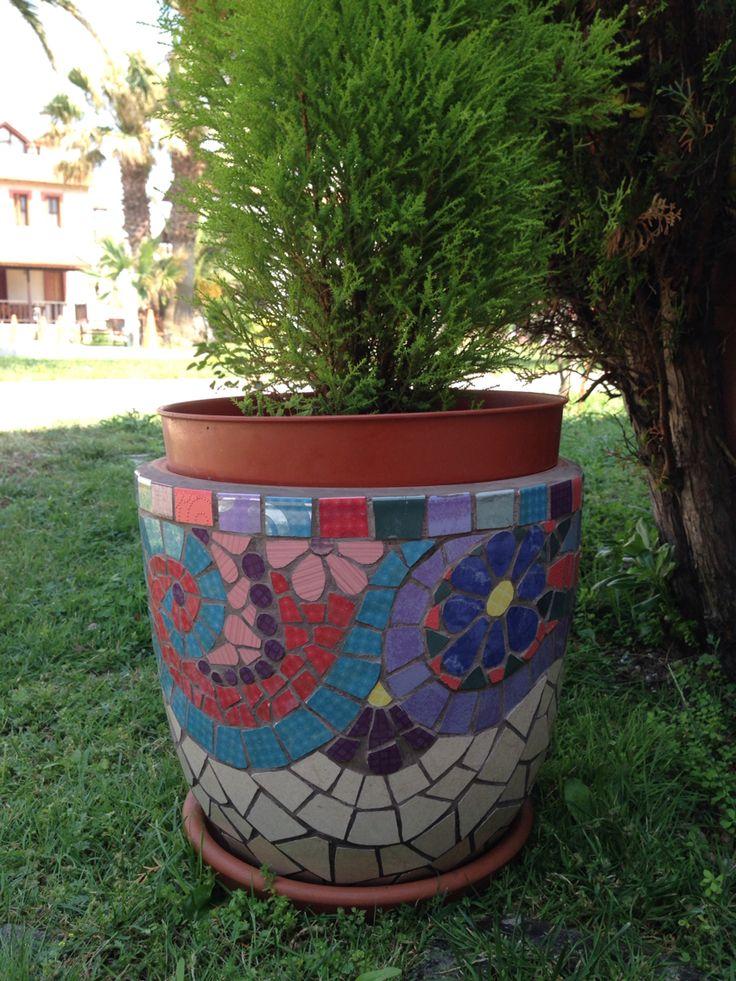 Garden mosaic, mözaik saksı