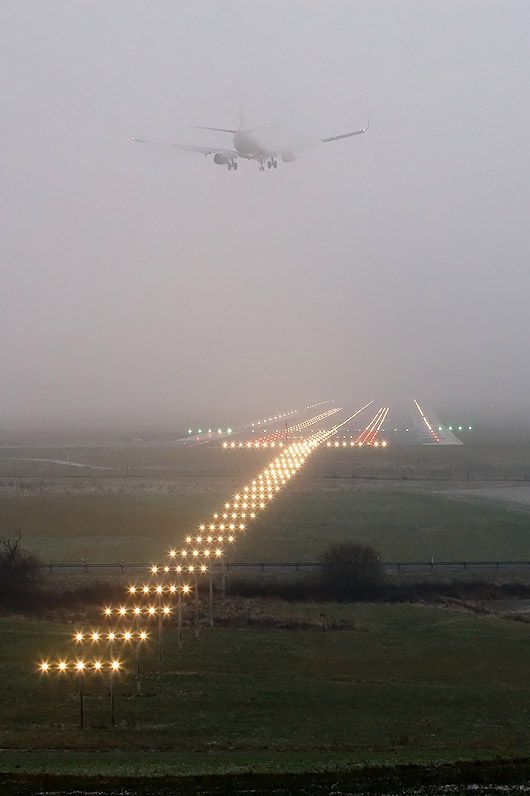 """""""The Lights of The Runway."""" (By: Ron Kellenaers)"""