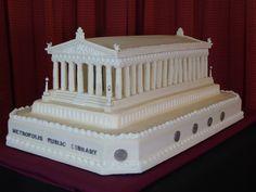 Batman v Superman: Dawn of Justice - Metropolis Public Library Cake | Cakes by Sarah Williams
