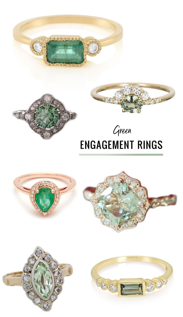 diamond alternative engagement rings // sapphire and morganite engagement rings