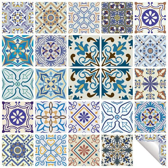 Traditional Tile Stickers Vintage Transfer Decal For Kitchen