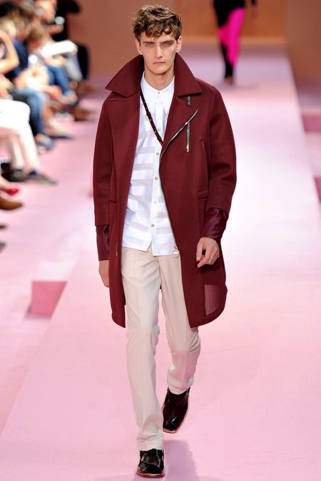 Paul Smith Maroon Over Coat.  Build your own personal style at www.meggallagher.com #MegGallagher #NYFW #Spring2014 #personalstylist #HowtoWear #PaulSmith #mensfashion