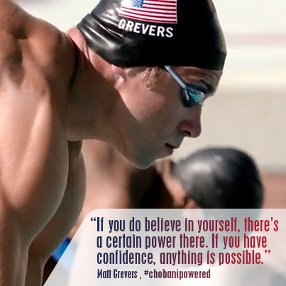 Congrats to Matt Grevers of Team USA and Team Chobani for taking home the gold in Men's 100M Backstroke!