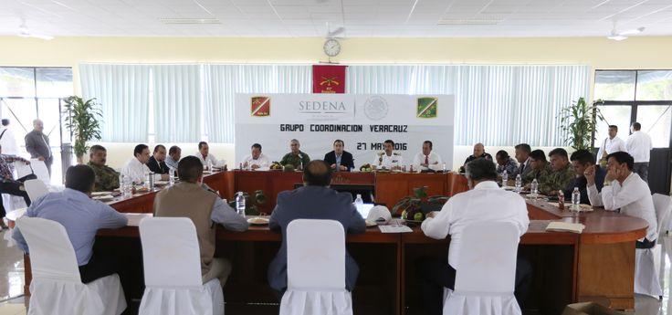 Javier Duarte participó en la 7a reunión ordinaria del Grupo de Coordinación Veracruz con el fin de establecer estrategias de seguridad para el ejercicio electoral del 5 de junio del 2016.