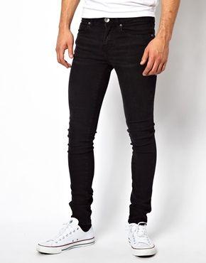 #Dr Denim #Scandinavia Snap Skinny Jeans in Black Used