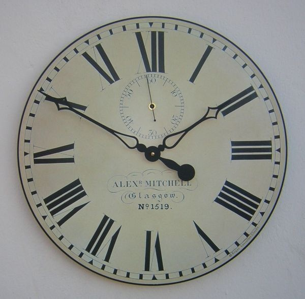 Vintage Style Glasgow Station Wall Clock