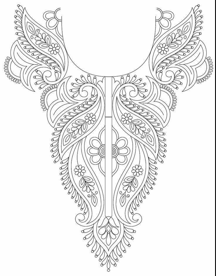 Kameez Neck Line Embroidery Design