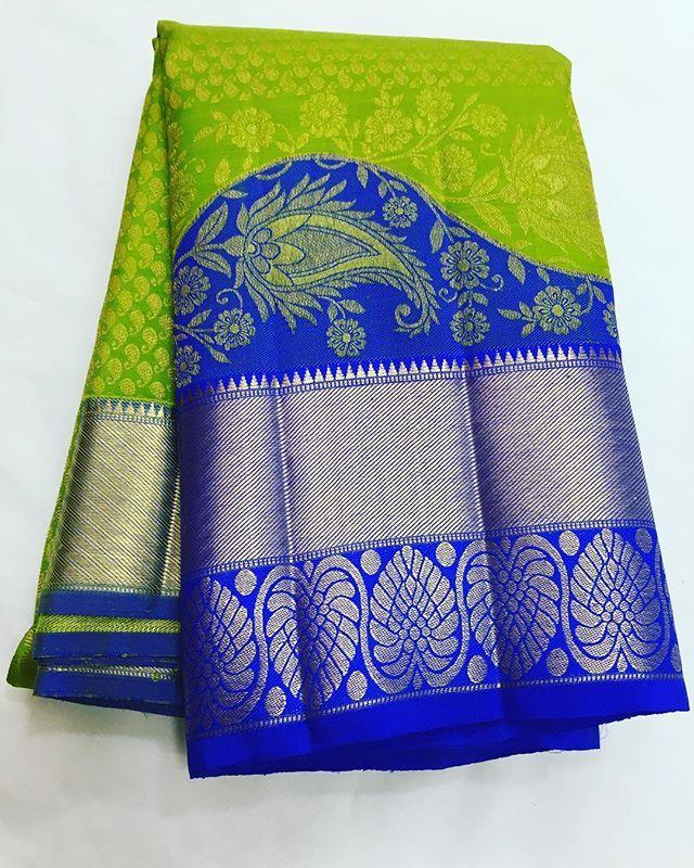 Pure Kanchipuram silk sarees Shipping free in India  Price on request . . .. ... To buy , please direct message #silksarees #wholesale #uk #kanchipuram #kanchi #puresilk #tamilwedding #bridalsarees #toronto #jari
