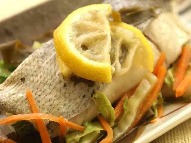 白身魚のゆず昆布レンジ蒸しの画像