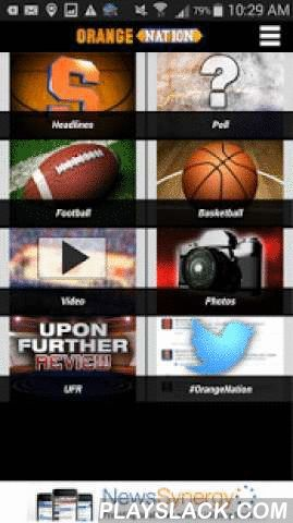 "Orange Nation  Android App - playslack.com , The Orange Nation app gives you complete coverage of Syracuse University men's basketball and football.It's the perfect companion for fans before and after the game, when you can watch live video of pre-game and post-game coverage.Get free alerts of breaking Orange Nation news so you can stay up to date with everything happening at the Carrier Dome and on the road.Weekday afternoons, you can open the app to watch the daily sports talk show ""Upon…"