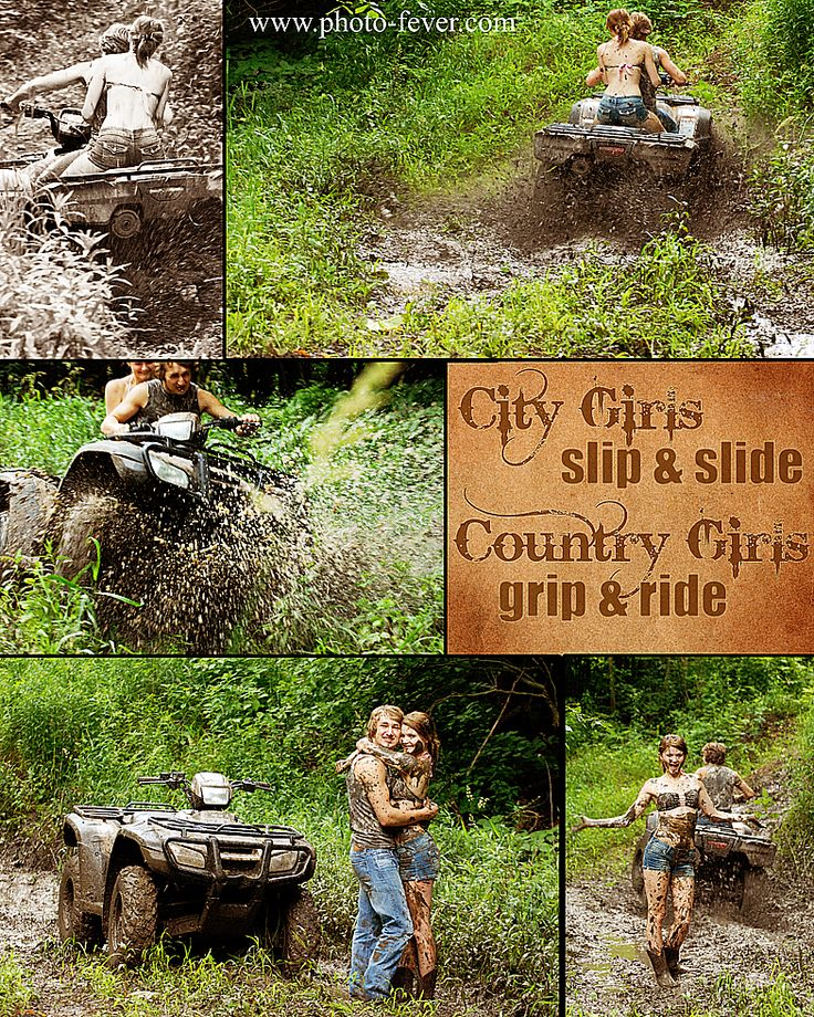 Senior Picture Ideas In The Country: Country Girls Slip & Slide Country Girls Grip & Ride
