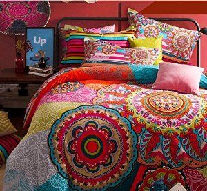 Cheer Up Your Bedroom Décor In The Bohemian Style With These Examples Of Colorful Duvet Covers