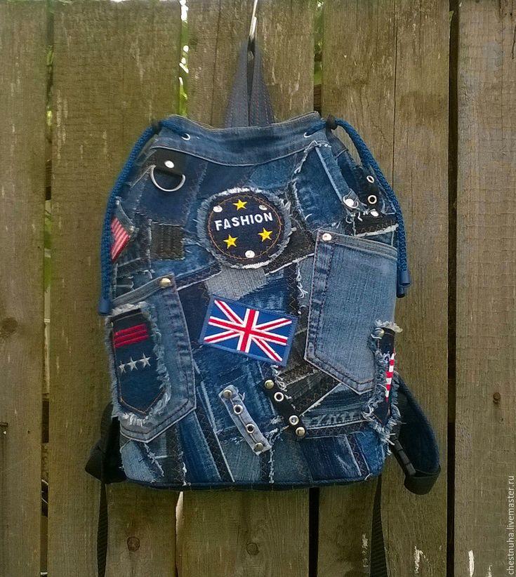 Купить Рюкзак торба джинсовый Сhaos_denim - рюкзак, рюкзачок, рюкзак джинсовый, рюкзак городской