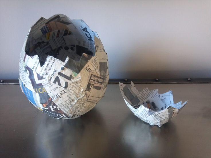 How to Make a Paper Mache Egg as seen on the NBC 10! Show - Semerjian Interiors