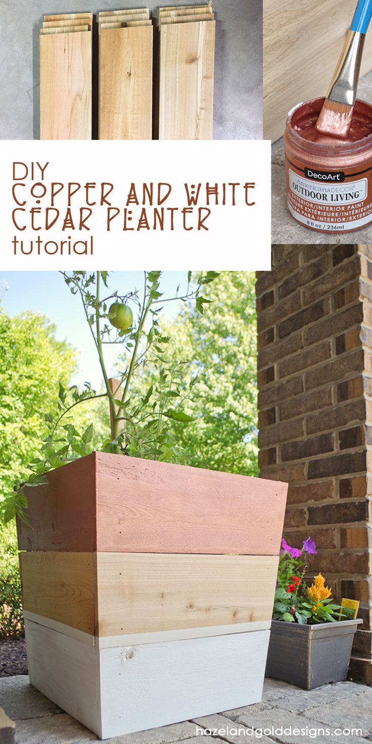 Learn how to make some awesome cedar planters for…