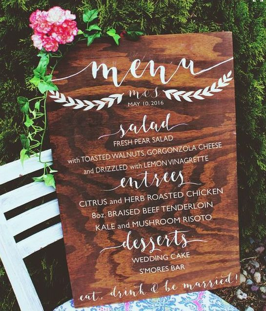 Cute Outdoor Wedding Ideas: What A Cute Wedding Sign For Your Next Event At The Camano