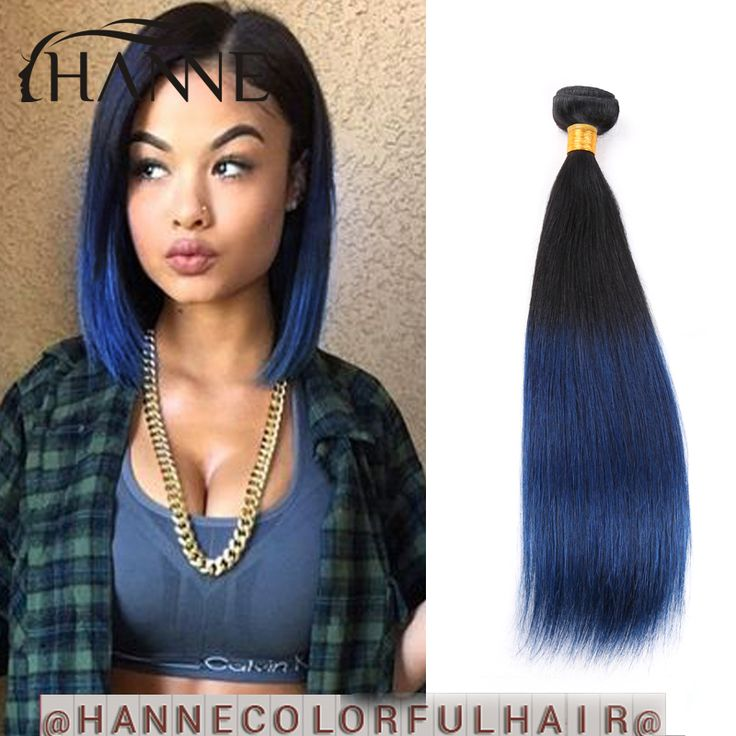 Beatiful Bob hair.blue human hair 1 bunlde remy hair blue ombre weave 2 tone ombre blue bundles HANNE Colorful Hair,High Quality hair dryers for black hair,China hair accessories women wedding Suppliers, Cheap hair accessories long hair from HANNE Colorful hair on Aliexpress.com
