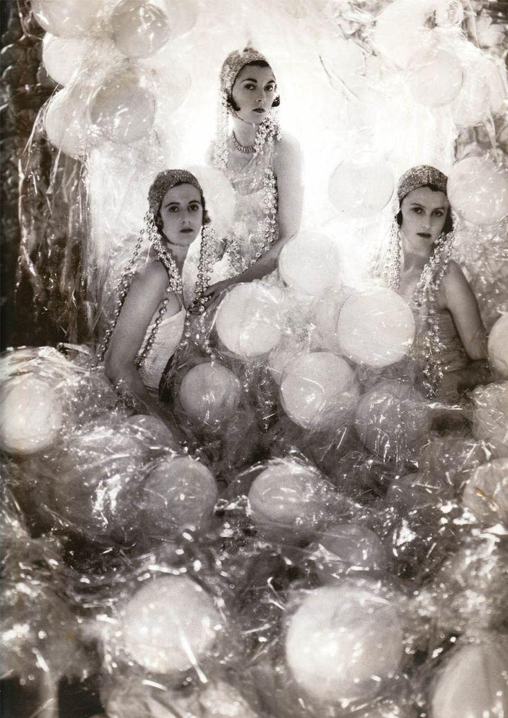 Baba Beaton (Cecil's sister), Wanda Baille-Hamilton and Lady Bridget Poullett by Cecil Beaton, 1930