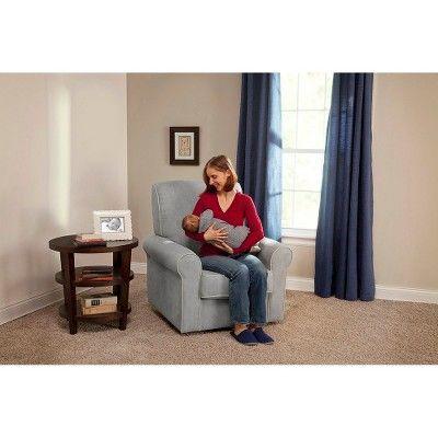 Delta Children Rowen Nursery Glider Swivel Rocker Chair - Dove Gray