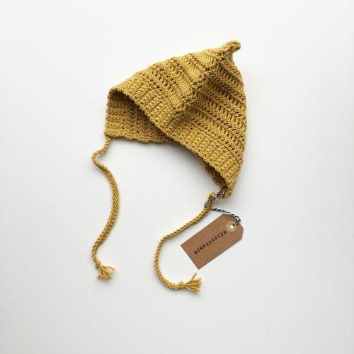 Mustard merino bonnet