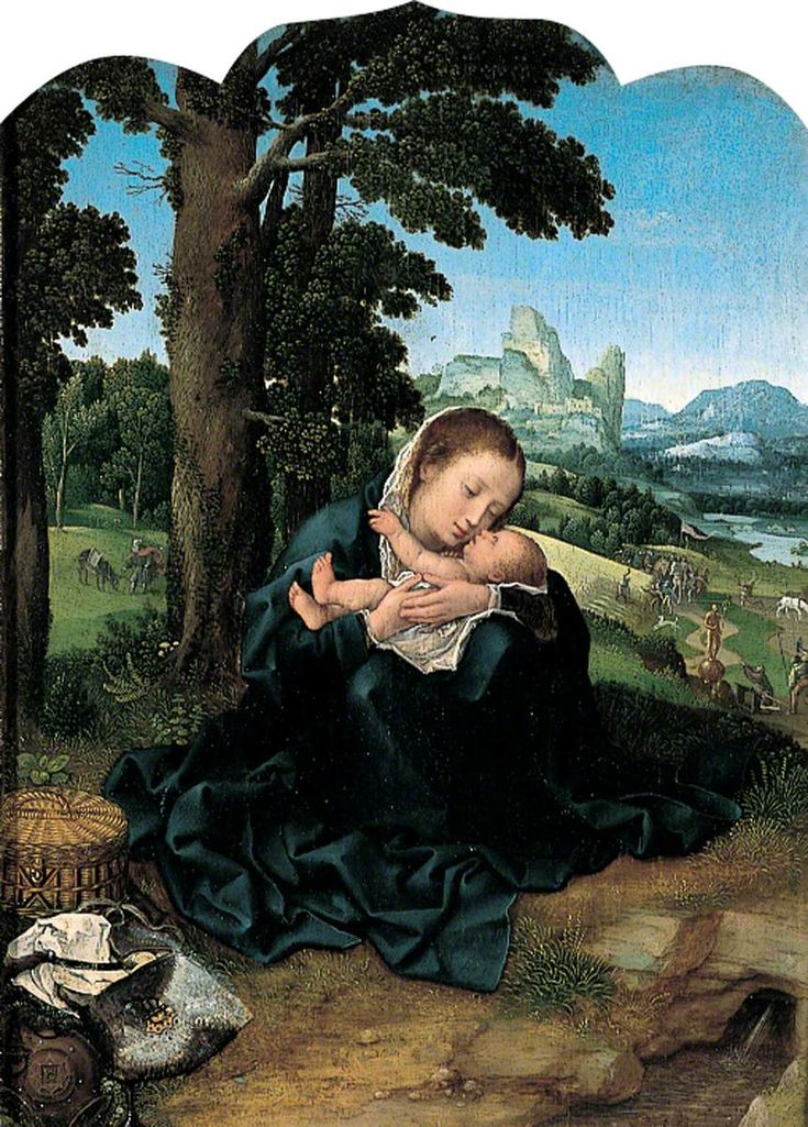 The Virgin and Child Resting in an Imagined Landscape, Bernaert van Orley (c.1488–1492–1541) Canterbury City Council Museums and Galleries
