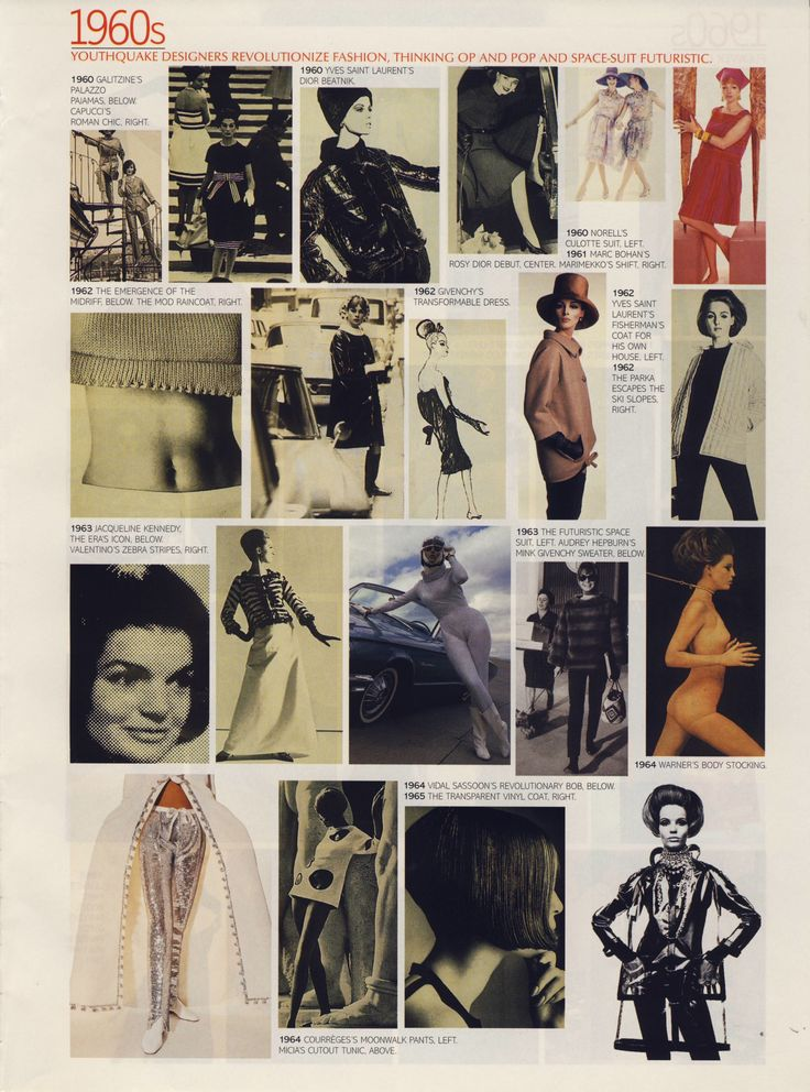 """What we wore"" 1960s. Scanned from a late 90s American Vogue."