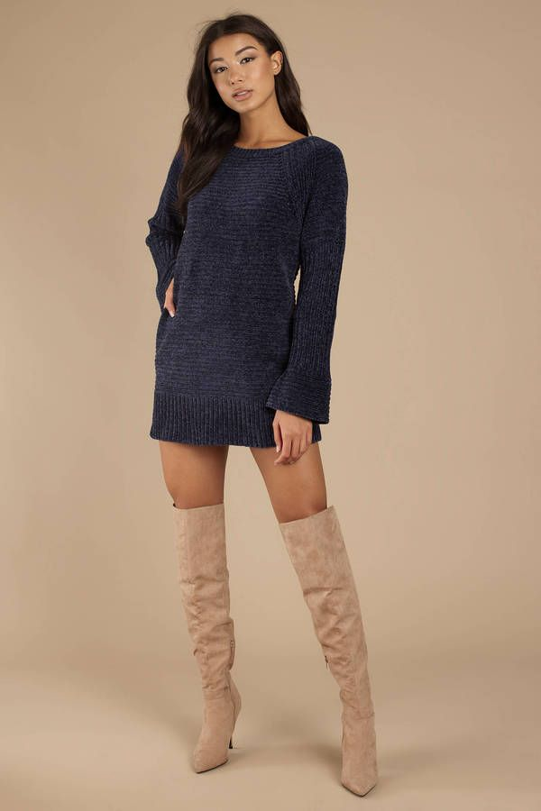 3a681678df3 Clara Chenille Sweater Dress in 2019