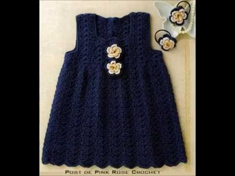 How to Crochet a Baby Dress - Christmas Holiday - Shell Stitch - YouTube