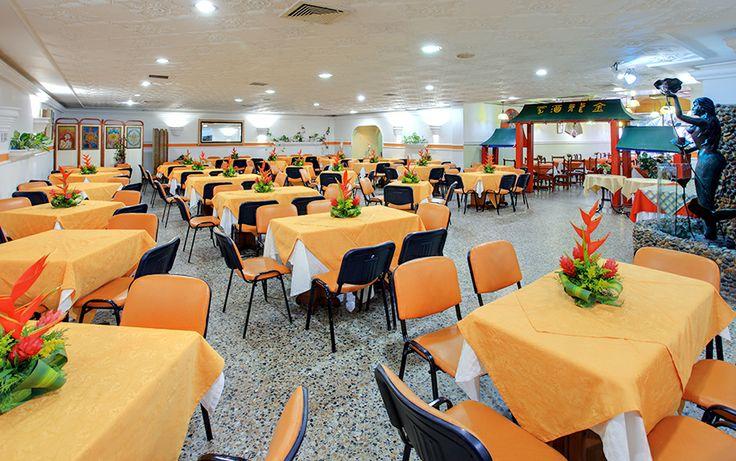 Restaurante del Hotel Dorado en Cartagena frente al mar