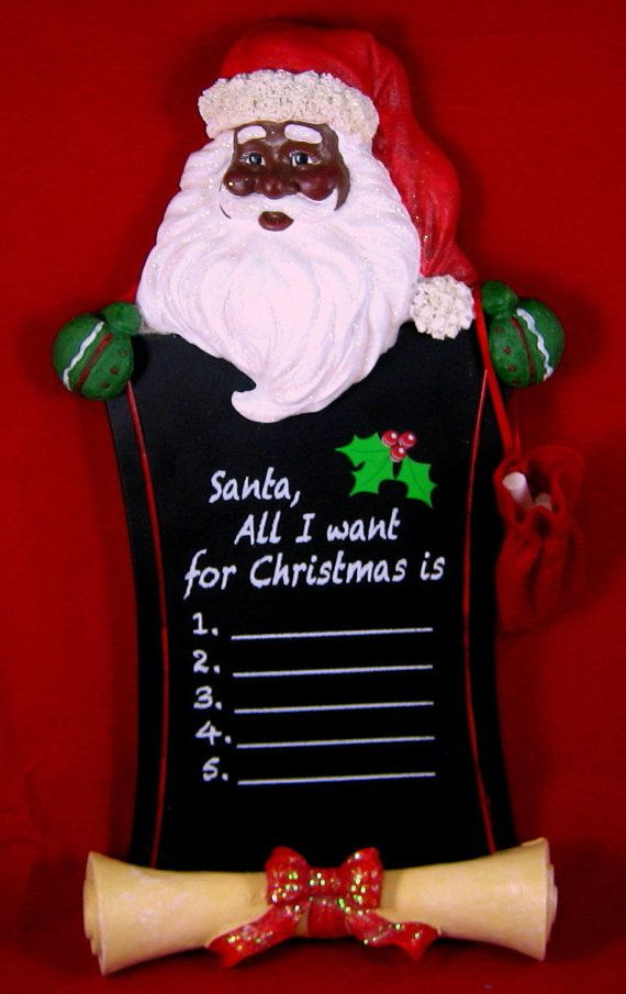 African American Santa Claus Wallhanging by INSPIRATIONSBYROBIN