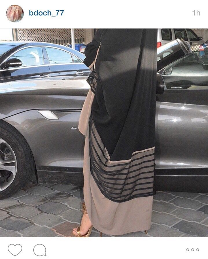 Black and beige abaya ♡ #hijab #abaya
