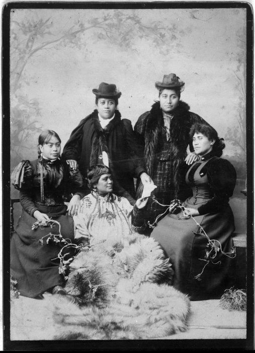 Group including Mrs Hohepine Love, Mrs Ripeka Love and Mrs Manu Peck - Photograph taken Kinsey and Company