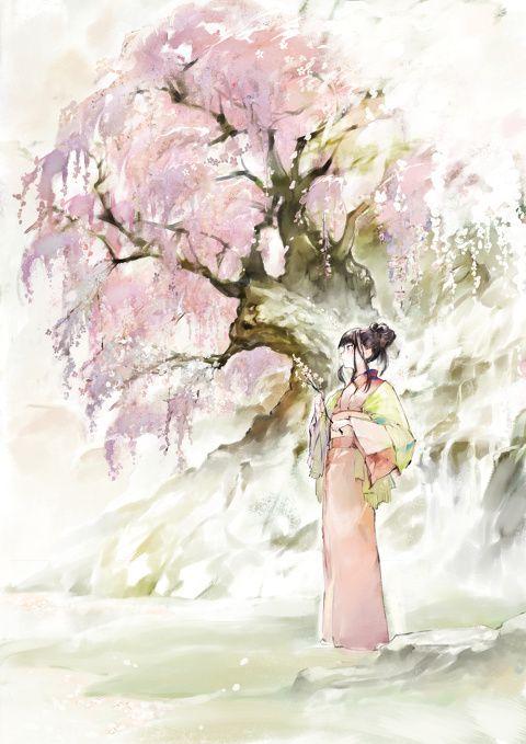 「徒桜」/「クレタ」のイラスト [pixiv]