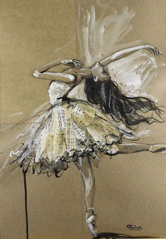 "Saatchi Art Artist: Sara Riches; Gouache 2014 Painting ""Lovely and Fair"""