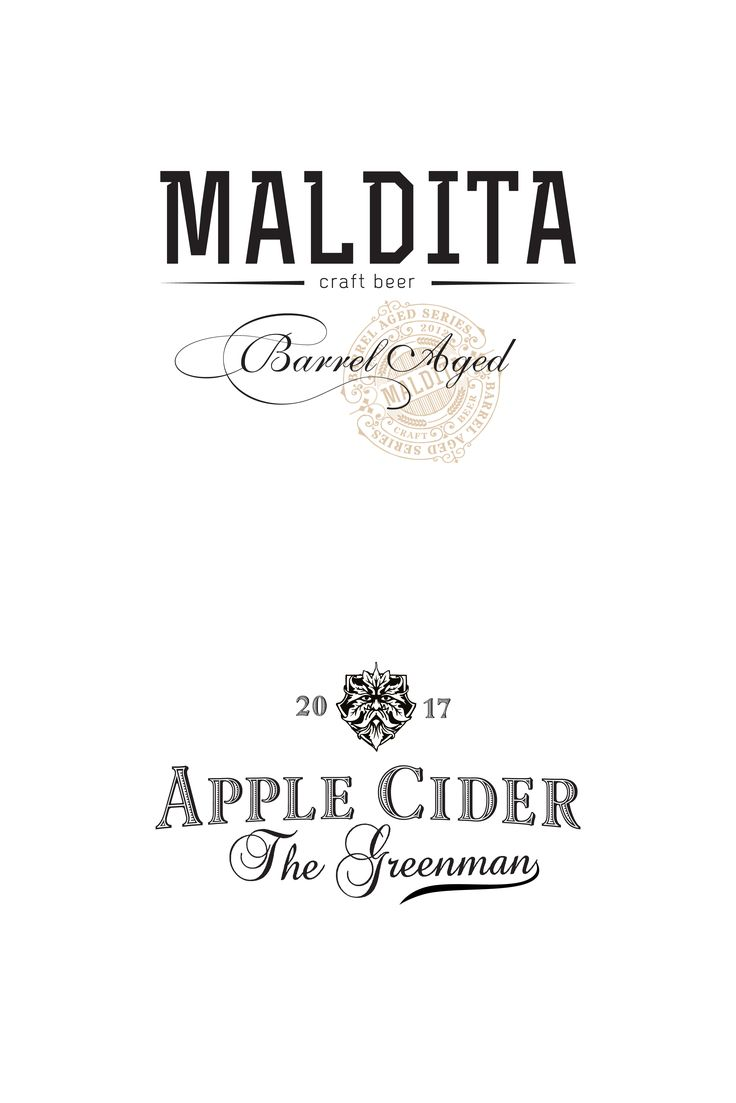 Brand identity change for craft beer brand creating a stamp and working with the typography & logotype for an apple cider.